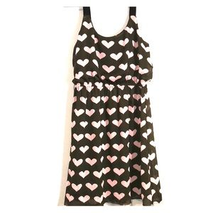 Juniors brown with pink hearts dress